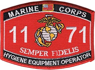 Marine Corps 1171 Hygiene Equipment Operator MOS Patch 4.5
