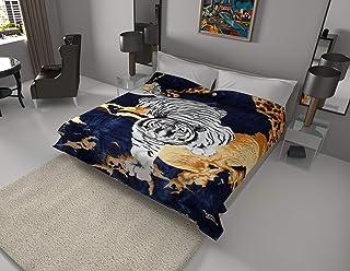 White Tiger Blanket I Korean style Mink Ultra Silky Soft Reversible Bed comforter..