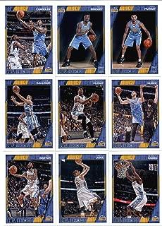2016-17 Panini NBA Hoops Denver Nuggets Team Set of 9 Cards: Emmanuel Mudiay(#90), Danilo Gallinari(#91), Kenneth Faried(#92), Nikola Jokic(#93), Will Barton(#94), Jusuf Nurkic(#215), Wilson Chandler(#216), Jamal Murray(#267), Malik Beasley(#276)