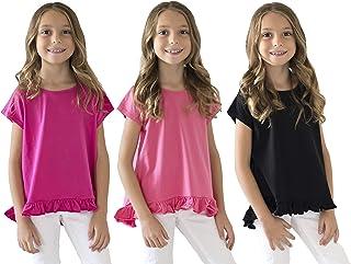 KIDPIK T Shirts for Girls (3PACK) – Summer Tees Short-Sleeve Tops & Tanks