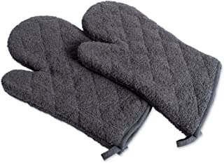 DII 100% Cotton Terry Oven Mitt Set, Ovenmitt, Mineral Gray, 2 Piece