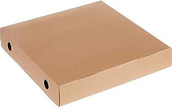 RedMan 61538 Pizza Box, 9 x 9 x 1.5, Unkraft Brown