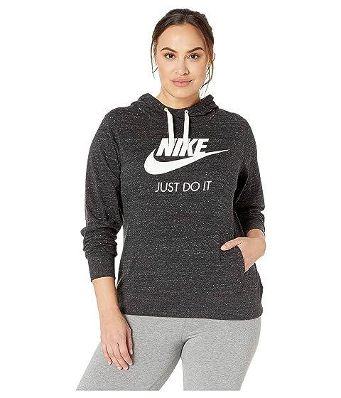 722f3ecd8295 Nike Plus Size Sportswear Gym Vintage Hoodie HBR at Zappos.com