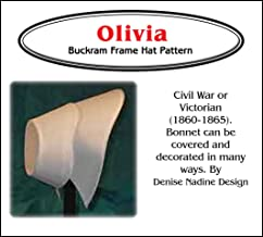 Sewing Pattern - Olivia Bonnet Pattern - 1860-1865 Civil War - Early Victorian Era or Steampunk Inspired