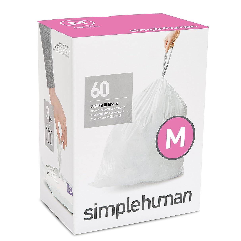 生産的コンテンポラリー愚かsimplehumanコードM パーフェクトフィットゴミ袋 45L / 60袋 CW0261