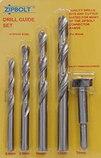 """Tabletops 3.15/"""" x 1.38/"""" Panels Furniture in Seconds 20 Pack Zipbolt UT 10.500 80mm x 35mm Connects Countertops Draw Bolt Joint Connector Includes 5mm Hex Bit with Quick Release Shank"""