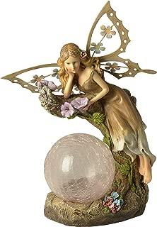 Moonrays 91352 Solar Powered Garden Fairy with Glowing Globe