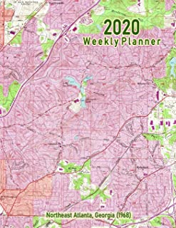 2020 Weekly Planner: Northeast Atlanta, Georgia (1968): Vintage Topo Map Cover
