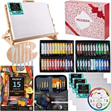 MEEDEN 72-Piece Acrylic Painting Set with Beech Wood Table Easel, 48×22ML Acrylic Paint Set and All The Additional Supplie...
