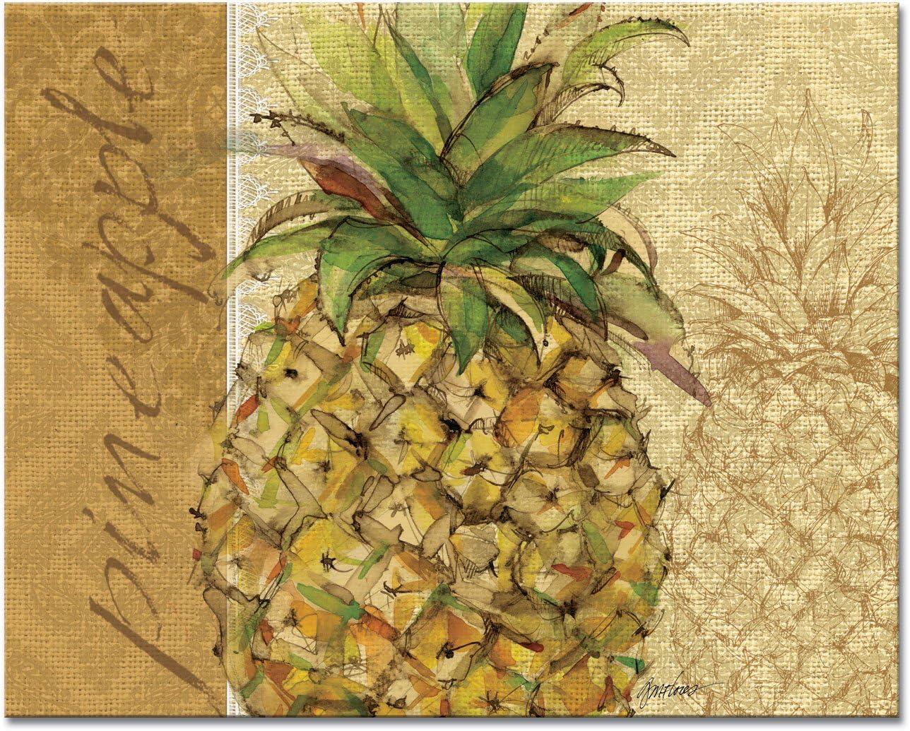 CounterArt trust Pineapple Glass Cutting Board 12