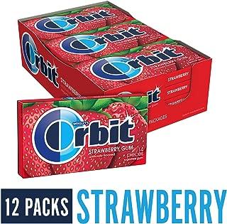 Orbit Strawberry Sugarfree Gum, (Pack of 12)