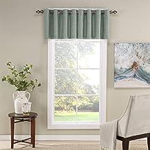 ستائر معتمة نافذة صغيرة من Eclipse Newport مقاس 52 × 18 بوصة للحمام وغرفة المعيشة والمطابخ، مقاس 52 × 18، باللون الأخضر
