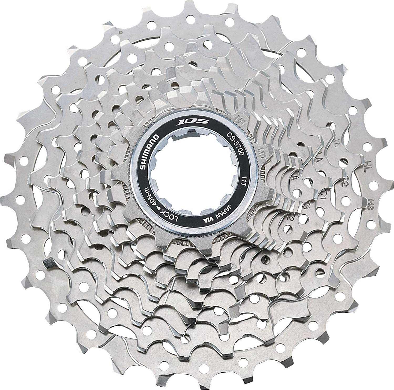 Shimano cassette 105 10 speed silver (Design  1128 sprockets) (japan import)