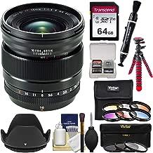 Fujifilm 16mm f/1.4 XF R WR Lens with 3 UV/CPL/ND8 & 6 Colored Filters + 64GB Card + Tripod + Hood + Kit
