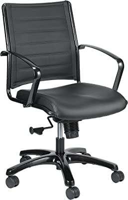 Eurotech Seating Europa Titanium Mid Back Chair, Black