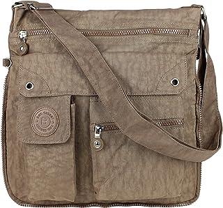 Unbekannt Bag Street 2221 Damen sportliche Handtasche Umhängetasche Schultertasche aus Nylon