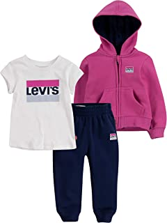 Baby Girls' Graphic T-Shirt, Hoodie and Joggers 3-Piece Outfit Set