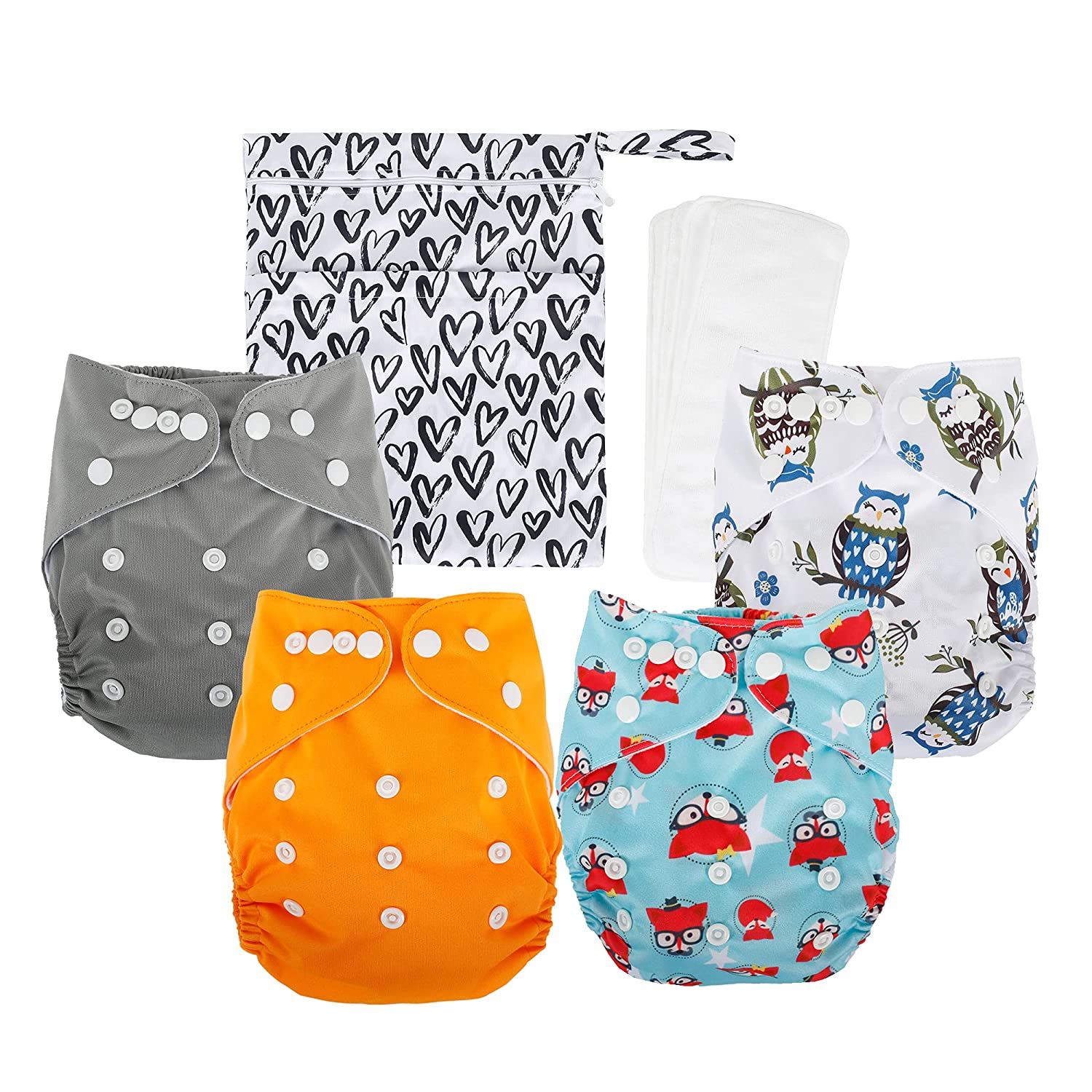 Max 81% OFF Newborn Cloth Very popular Diaper Reusable Adjustable Size Washable One Baby