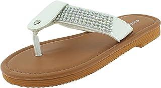2ff011ea4 Capelli New York Girls Fashion Flip Flops with Gem Trim