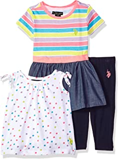 U.S. Polo Assn. Baby Girl's Knit Top, Fashion Top and...
