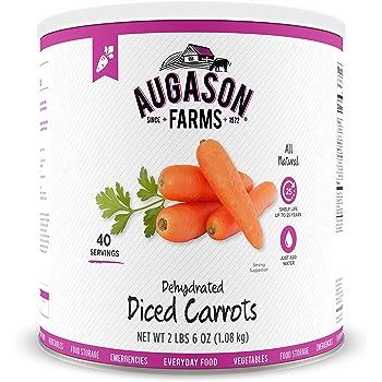 Augason Farms Dehydrated Diced Carrots 2 lbs 6 oz No. 10 Can