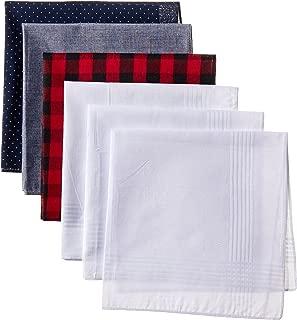 Levi's Men's 100% Cotton Hankerchiefs - Pack Of 6