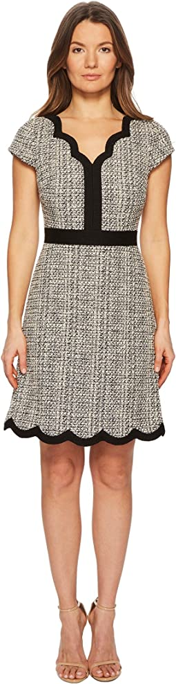 Scallop Tweed Dress