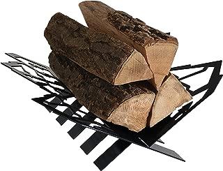 Sunnydaze Small Mountainside Indoor/Outdoor Fireplace Firewood Log Rack Holder - Steel Construction - 18-Inch
