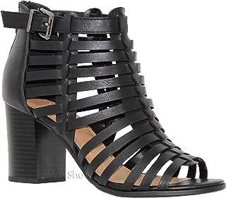 Womens Stylish Comfortable Open Toe Cut Out Heeled Sandal