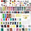 133 Pack StarOwl Slime Supplies Kit