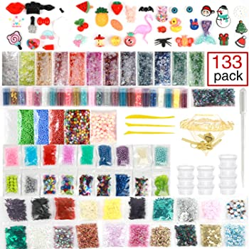 133 Pack StarOwl Slime Supplies Kit