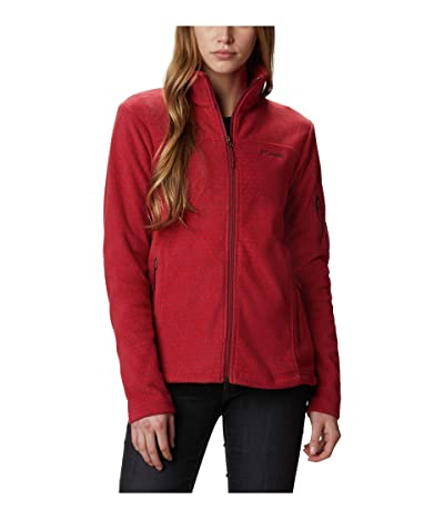 Columbia Fast Trektm Printed Jacket (Marsala Red Sparkler) Women