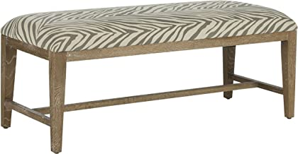 Safavieh Mercer Collection Zambia Zebra Bench, Grey