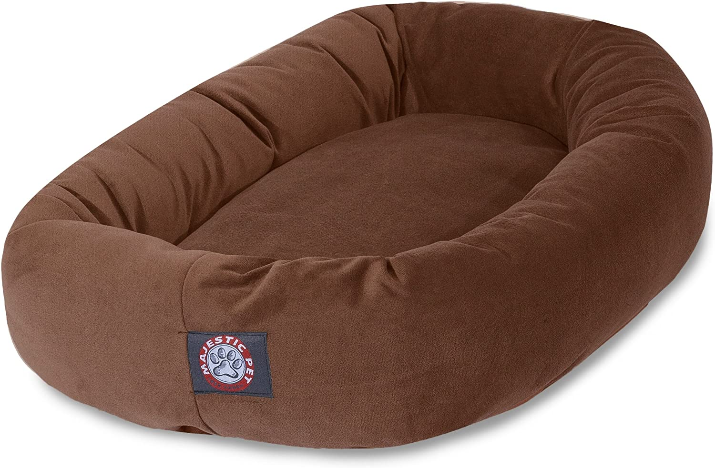 Majestic Pet 40Inch Rust MicroVelvet Bagel Dog Bed