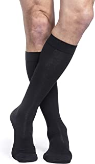 SIGVARIS Men's Essential Cotton 230 Closed Toe Calf-High Socks 20-30mmHg