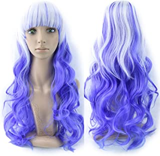 13 Colors Wavy Women Wig High Temperature Fiber Synthetic Hairpiece Long Ombre Hair Cosplay Wigs,T4/27/30,28inches