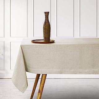 D'Moksha Homes 100% Pure Linen Tablecloth, 60x90 inches - Handmade, Rectangular, Decorative Table Cover for Kitchen, Dinin...