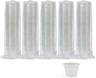 Medpride Disposable, Graduated, Plastic Medicine Cups- Bulk Set of 500, 1 Ounce Cups with Volume, Dosage Measure-for Mixed Pills, Liquid Medication Measuring, DIY Arts & Crafts/Mixes, Mouthwash