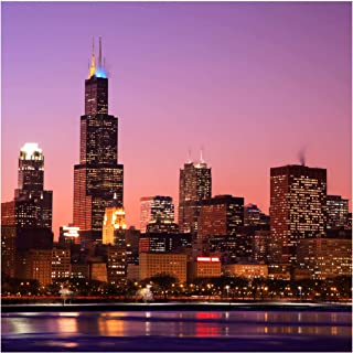 Self-Adhesive Wallpaper - Chicago Skyline - Square Format 192 x 192 cm