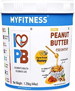 MYFITNESS Honey Peanut Butter Crunchy 1250g