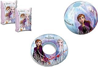 JOVAL - Set Infantil para Piscina de Frozen. Pelota, Flotador y Manguitos. Buen Vinilo, Resistente al Agua y Rayos UV. con válvulas de Seguridad para la máxima Seguridad de los niños.