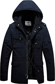 Sponsored Ad - WenVen Men's Winter Military Thicken Parka Jacket with Removable Hood