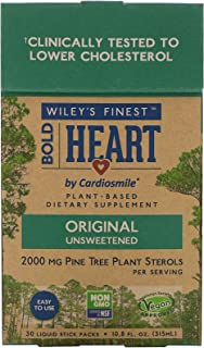 Wiley's Finest Bold Heart by Cardiosmile 2,000 MG Plant Sterols per Serving Original (30 Single Serving Packets)