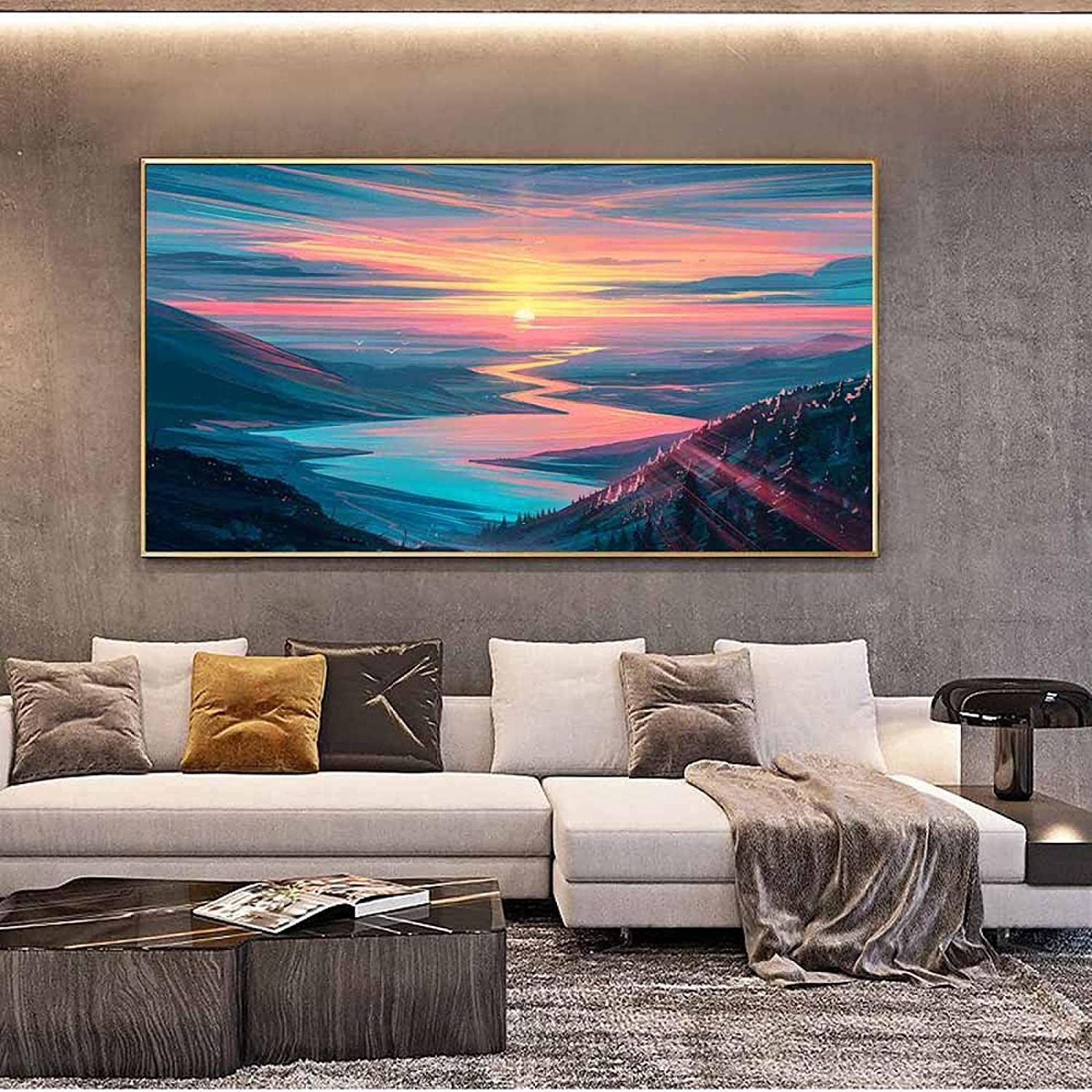 Limited time sale Scenery Wall Art Time sale Landscape Painting Ca Star Color Impression
