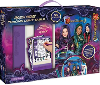 Make It Real - Disney Descendants 3 Sketchbook with Tracing Light Table. Fashion Design Tracing and Drawing Kit for Girls. Includes Sketch Pages, Stencils, Stickers, and Backlit Tracing Pad