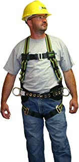 Miller by Honeywell E650-78/UGN DuraFlex 650 Series Full-Body Stretchable Harness with Mating Buckle Leg Straps, Universal, Green