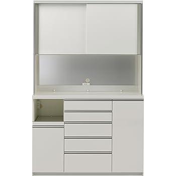 パモウナ 食器棚WG パールホワイト 幅140×高さ214×奥行50 日本製 WGL-1400R