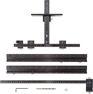 True Position Tools - TP-1935 - Original Cabinet Hardware Jig + Long Handles / Pulls + Line Boring Drill Template for Doors and Drawers