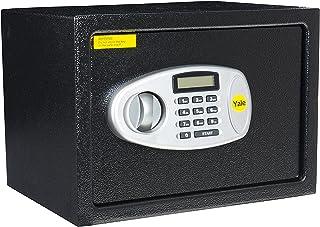 Yale Y-MS0000NFP Medium Digital Safe, Steel Construction, LCD Display, Emergency Override Key, 16 Litre Capacity