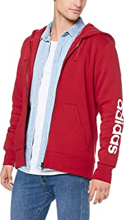 adidas Men's CZ9012 Essentials Linear Full Zip Hoodied Jacket